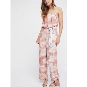 ❤️Free People Just Float Peach Tie Dye Jumpsuit